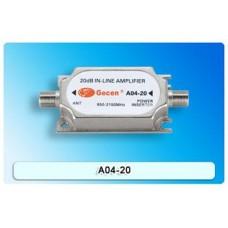 Gecen Satellite 20dB In-Line Amplifier