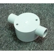 Shallow Junction Box With Two Way 20mm Through