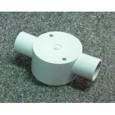 Shallow Junction Box With Two Way 25mm Through
