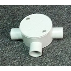 Shallow Junction Box With Three Way 20mm