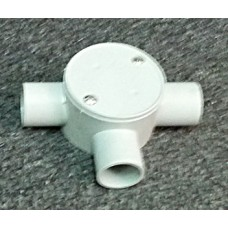 Shallow Junction Box With Three Way 25mm