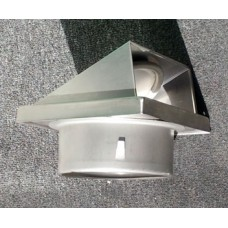 Grille Cowl Square Stainless steel 150mm