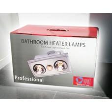 Bathroom Heater 2 Lamps Vent 3 in 1
