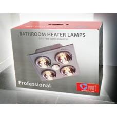 Bathroom Heater 4 Lamps Vent 3 in 1